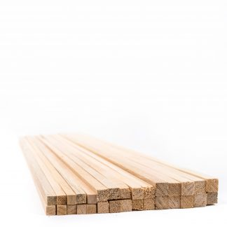 10mm Square Section Wood Pack of 100 - Leren