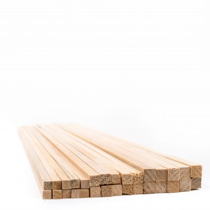 12mm Square Section Wood Pack 100 - Leren