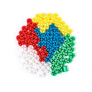 Plastic Cotton Reels Assorted Colours Pack of 50 - Leren