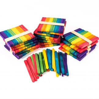 Coloured Lollipop Sticks Pk1000 - Leren