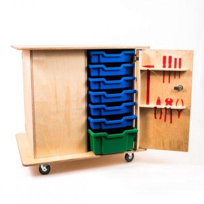 Junior Technology Trolley Plywood - Leren
