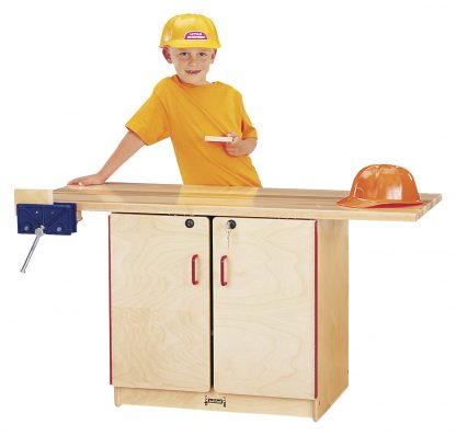 Jonti-Craft Workbench with Lockable Cupboard - Leren
