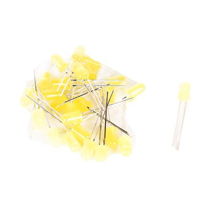 5mm Standard LED Yellow Pack of 50 - Leren
